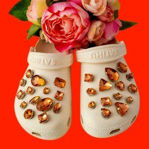 Crocs Shoe Jewel Charms PUMPKIN SPICE